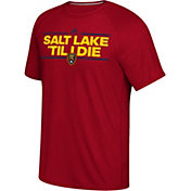 adidas Men's Real Salt Lake Local Saying Dassler Red T-Shirt