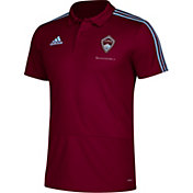 adidas Men's Colorado Rapids White Coaches Polo