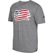 adidas Men's New England Revolution Vintage Crest Grey T-Shirt