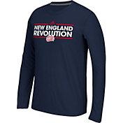 adidas Men's New England Revolution Dassler Ultimate Navy Performance Long Sleeve Shirt