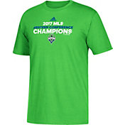adidas Men's 2017 MLS Western Conference Champions Locker Room Seattle Sounders Go To Green T-Shirt