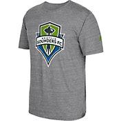 adidas Men's Seattle Sounders Vintage Crest Grey T-Shirt