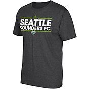 adidas Men's Seattle Sounders Dassler Dark Heather Grey T-Shirt