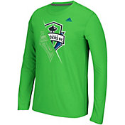 adidas Men's Seattle Sounders Uncovered Ultimate Green Long Sleeve T-Shirt
