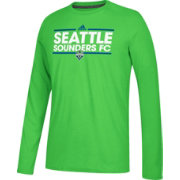adidas Men's Seattle Sounders Dassler Ultimate Green Performance Long Sleeve Shirt