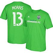 adidas Men's Seattle Sounders Jordan Morris #13 Player Green T-Shirt