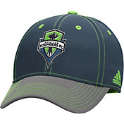 adidas Men's Seattle Sounders Navy/Grey Structured Flex Hat