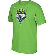 adidas Men's Seattle Sounders Basic Logo Green T-Shirt