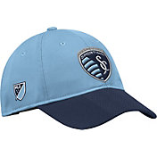 adidas Men's Sporting Kansas City Authentic Slouch Blue Adjustable Hat