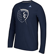 adidas Men's Sporting KC Uncovered Ultimate Navy Long Sleeve T-Shirt