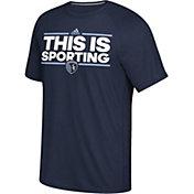 adidas Men's Sporting KC Local Saying Dassler Navy T-Shirt