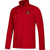 adidas Men's Atlanta United Ultimate Red Quarter-Zip Pullover