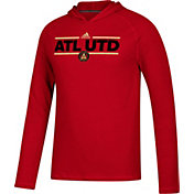 adidas Men's Atlanta United Ultimate Red Performance Pullover Hoodie