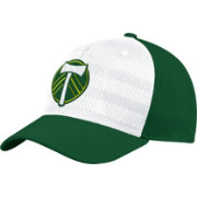 adidas Men's Portland Timbers Authentic Structured Green/White Flexfit Hat