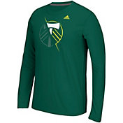 adidas Men's Portland Timbers Uncovered Ultimate Green Long Sleeve T-Shirt
