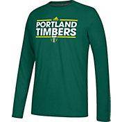 adidas Men's Portland Timbers Dassler Ultimate Green Performance Long Sleeve Shirt