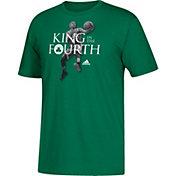 "adidas Men's Boston Celtics Isaiah Thomas ""King In The Fourth"" Kelly Green T-Shirt"