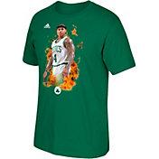 adidas Men's Boston Celtics Isaiah Thomas Fired-Up Kelly Green T-Shirt