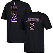 adidas Men's Los Angeles Lakers Lonzo Ball #2 Black T-Shirt