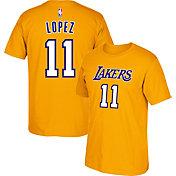 adidas Men's Los Angeles Lakers Brook Lopez #11 Gold T-Shirt