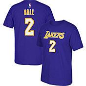 adidas Men's Los Angeles Lakers Lonzo Ball #2 Purple T-Shirt