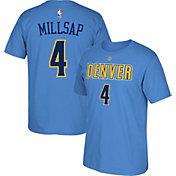 adidas Men's Denver Nuggets Paul Millsap #4 Light Blue T-Shirt