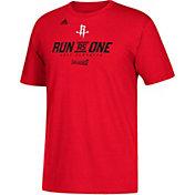 "adidas Men's Houston Rockets 2017 NBA Playoffs ""Run As One"" Red T-Shirt"