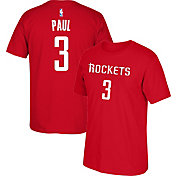 adidas Men's Houston Rockets Chris Paul #3 Red T-Shirt