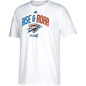 "adidas Men's Oklahoma City Thunder 2017 NBA Playoffs ""Rise & Roar"" White T-Shirt"