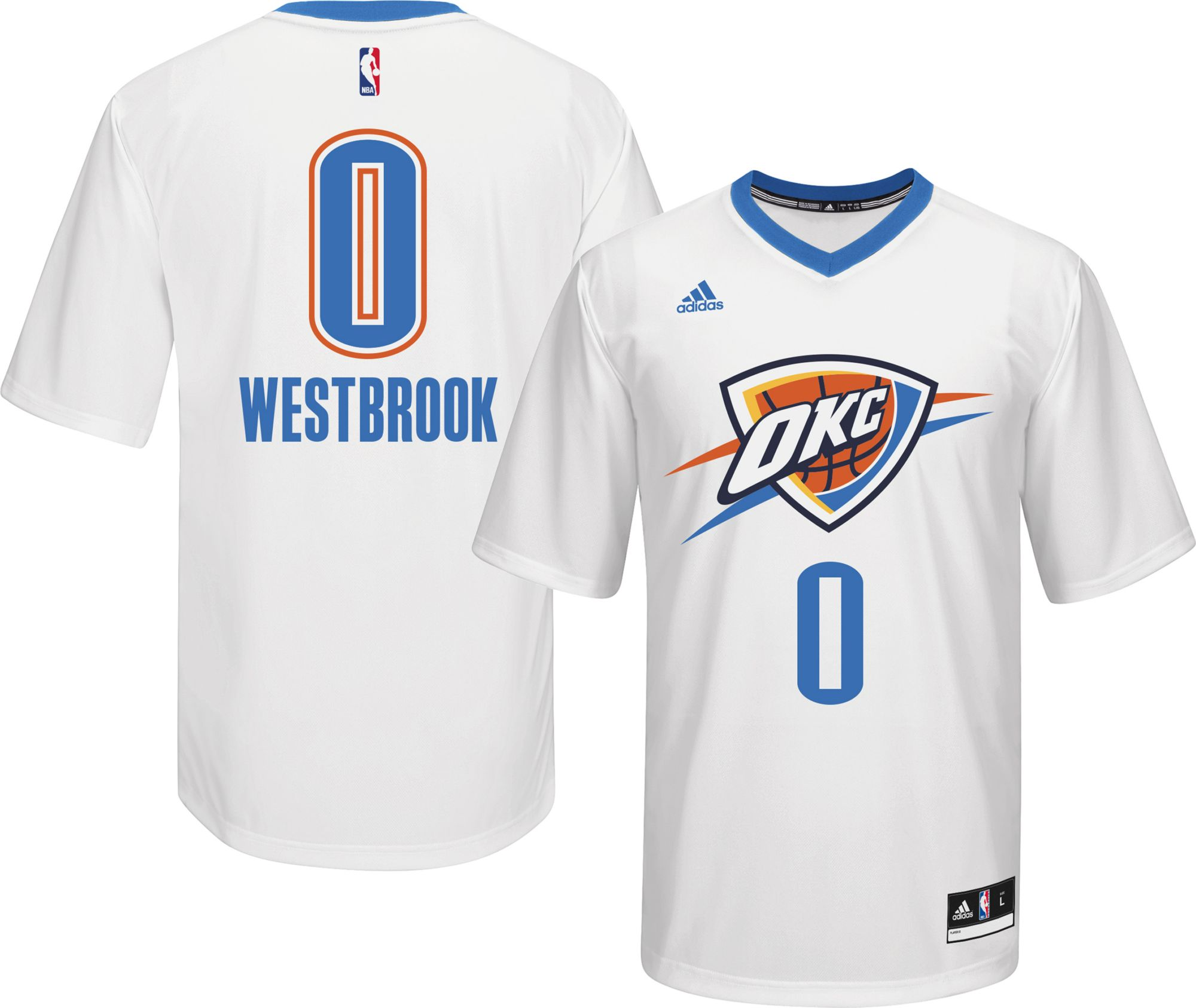 best service 2e073 f00aa oklahoma city thunder russell westbrook 0 white replica nba ...