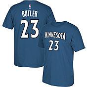 adidas Men's Minnesota Timberwolves Jimmy Butler #23 Blue T-Shirt