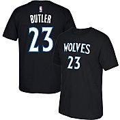 adidas Men's Minnesota Timberwolves Jimmy Butler #23 Black T-Shirt