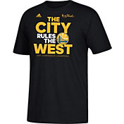 "adidas Men's 2017 Western Conference Champions Golden State Warriors ""The City Rules The West"" Black T-Shirt"
