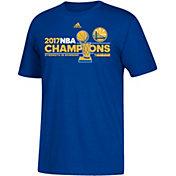adidas Men's 2017 NBA Champions Golden State Warriors Locker Room Royal T-Shirt