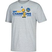 adidas Men's 2017 NBA Champions Golden State Warriors Locker Room Grey T-Shirt