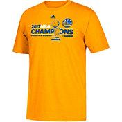 adidas Men's 2017 NBA Champions Golden State Warriors Locker Room Gold T-Shirt