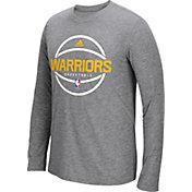 adidas Men's Golden State Warriors climalite Grey Long Sleeve Shirt