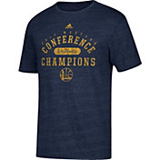 adidas Men's 2017 Western Conference Champions Golden State Warriors Navy Tri-Blend T-Shirt