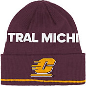 adidas Men's Central Michigan Chippewas Maroon Cuffed Knit Hat