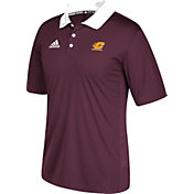 adidas Men's Central Michigan Chippewas Maroon Sideline Coaches Polo
