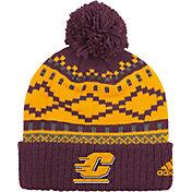 adidas Men's Central Michigan Chippewas Cuffed Pom Knit Hat