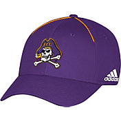 adidas Men's East Carolina Pirates Purple Sideline Coaches Structured Flex Hat