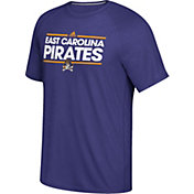 adidas Men's East Carolina Pirates Purple Dassler Performance T-Shirt