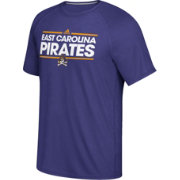 adidas Men's East Carolina Pirates Purple Dassler Performance T-Shirt