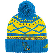 adidas Men's Delaware Fightin Blue Hens Cuffed Pom Knit Hat