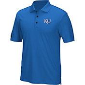 adidas Men's Kansas Jayhawks Blue Performance Polo