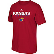 adidas Men's Kansas Jayhawks Red Cotton T-Shirt