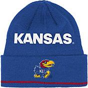 adidas Men's Kansas Jayhawks Blue Cuffed Knit Hat
