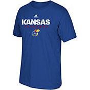 adidas Men's Kansas Jayhawks Blue Cotton T-Shirt