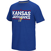 adidas Men's Kansas Jayhawks Blue Dassler Performance T-Shirt